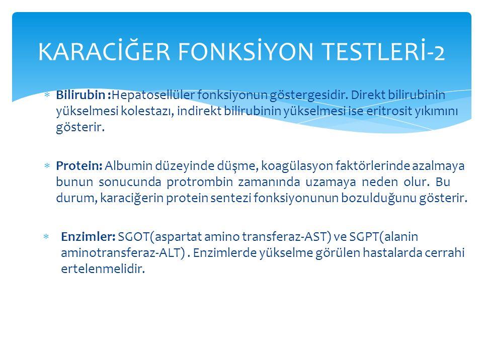 KARACİĞER FONKSİYON TESTLERİ-2