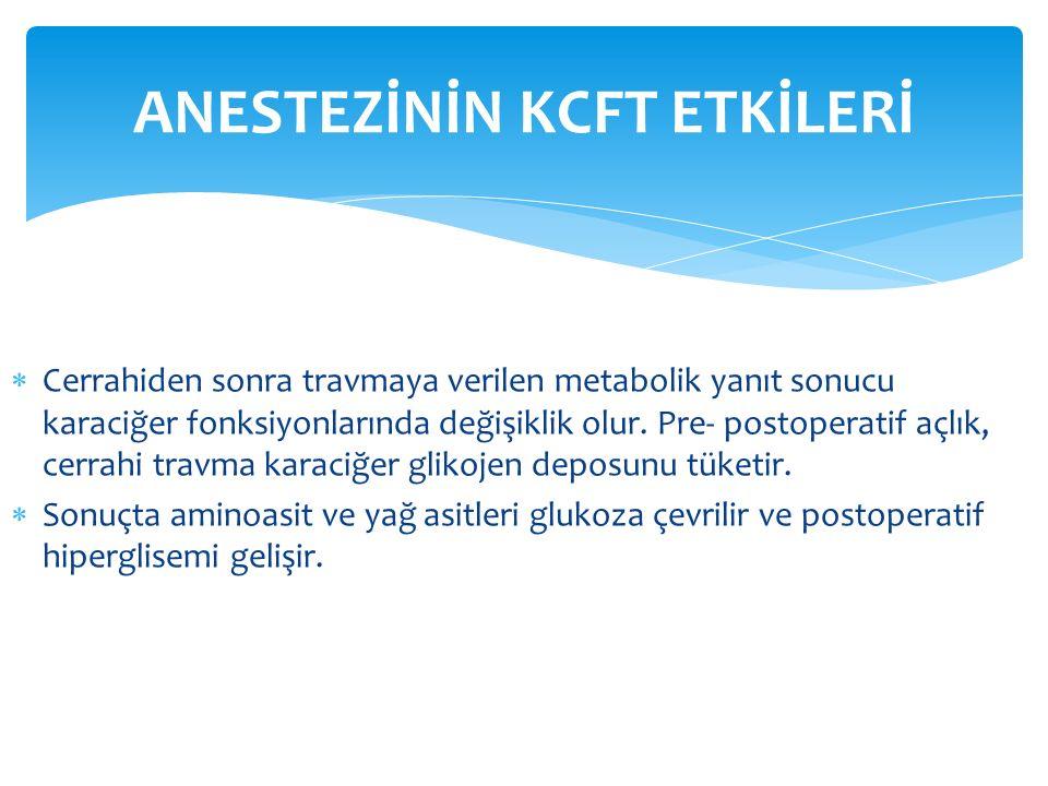 ANESTEZİNİN KCFT ETKİLERİ