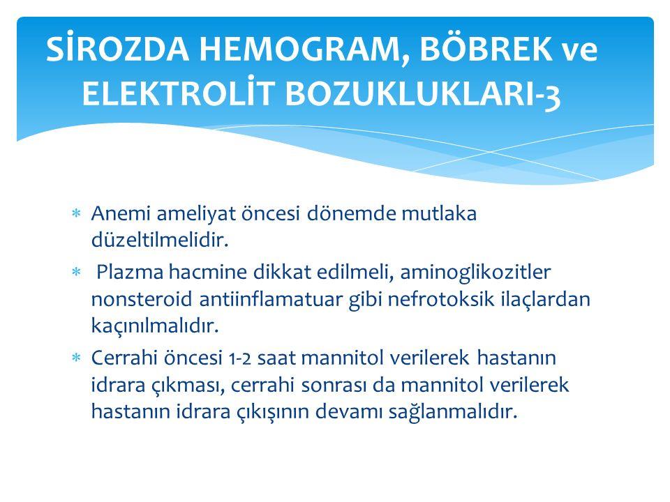 SİROZDA HEMOGRAM, BÖBREK ve ELEKTROLİT BOZUKLUKLARI-3