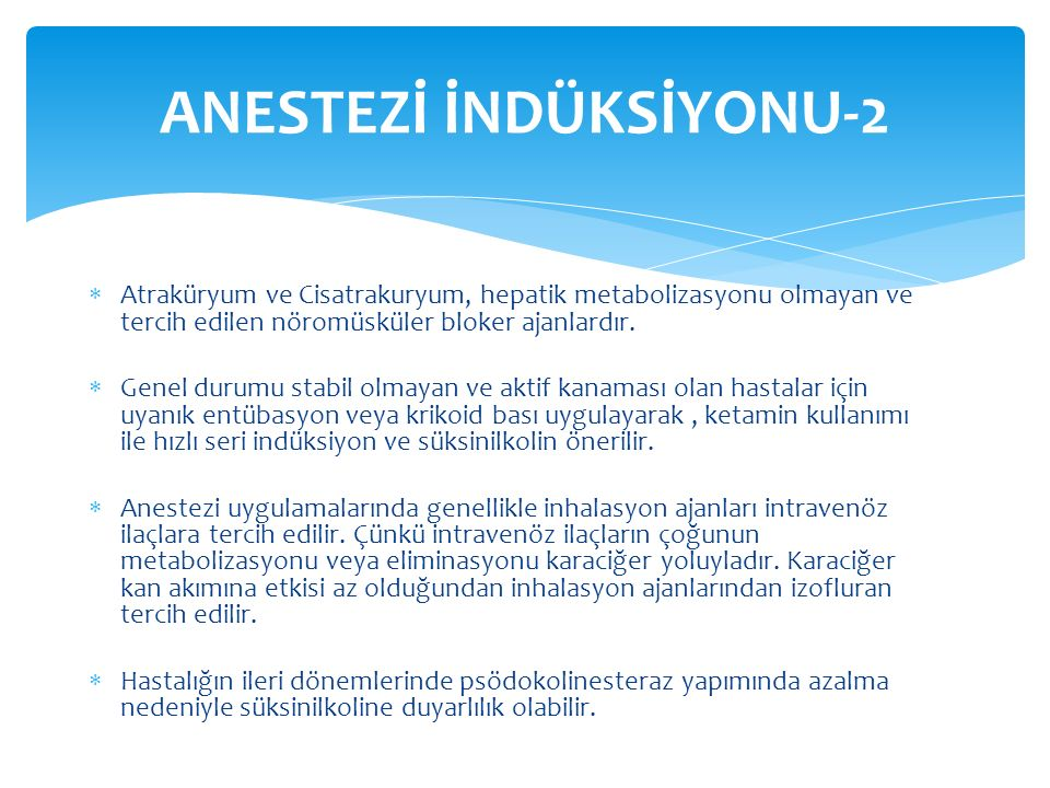 ANESTEZİ İNDÜKSİYONU-2