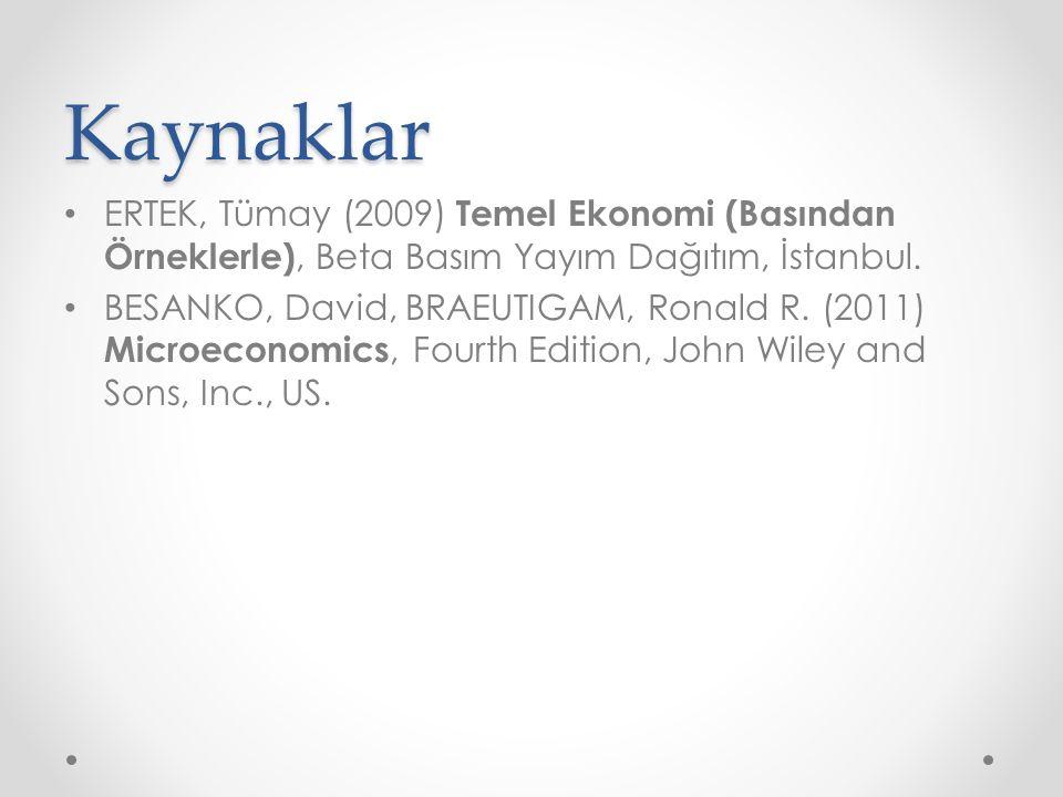 Kaynaklar ERTEK, Tümay (2009) Temel Ekonomi (Basından Örneklerle), Beta Basım Yayım Dağıtım, İstanbul.