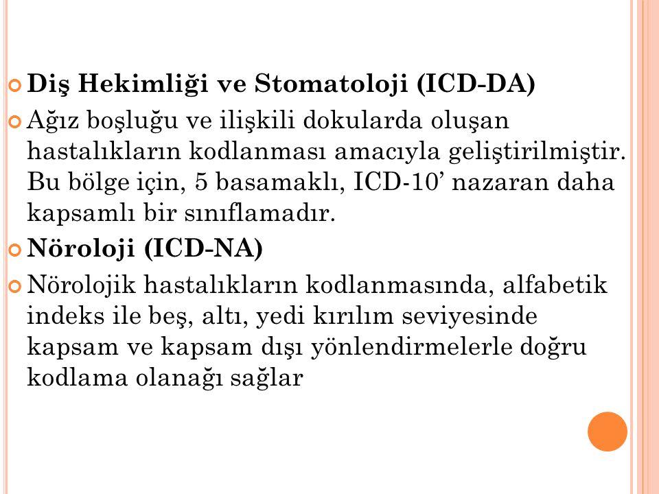 Diş Hekimliği ve Stomatoloji (ICD-DA)