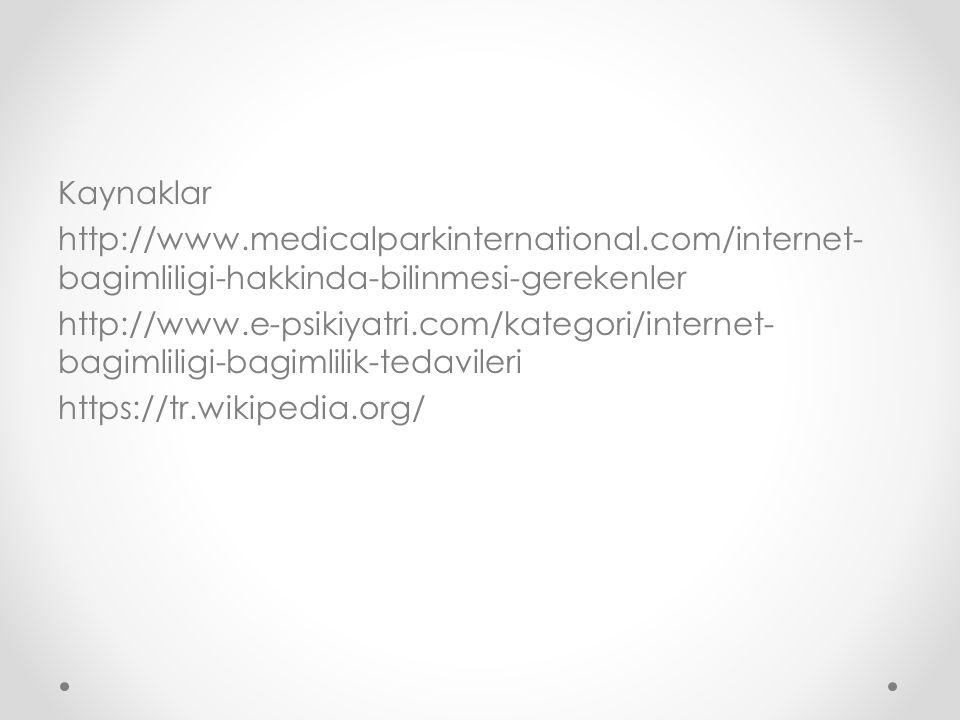 Kaynaklar http://www. medicalparkinternational