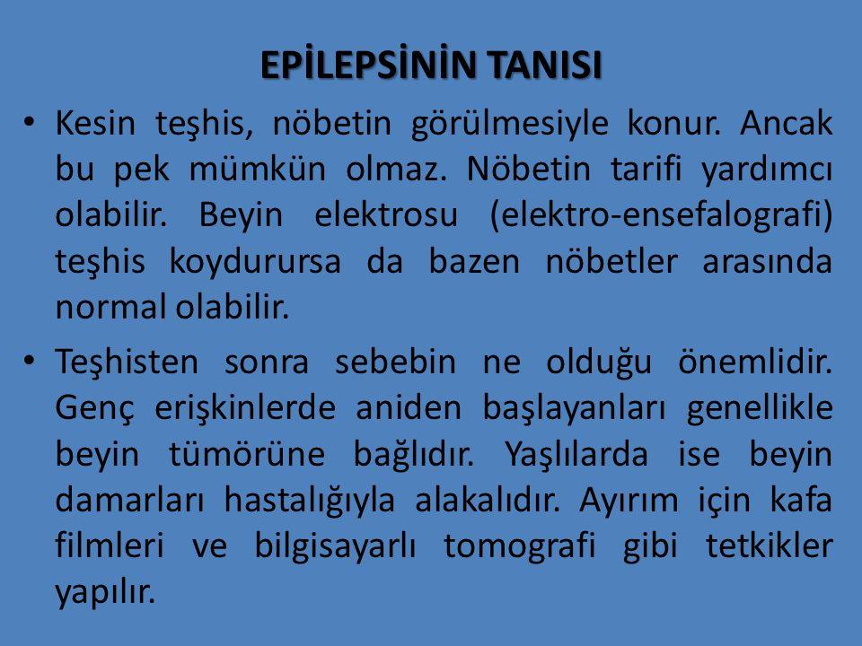 EPİLEPSİNİN TANISI