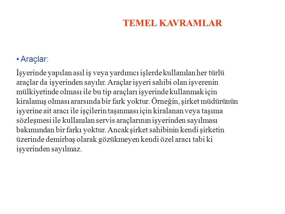 TEMEL KAVRAMLAR • Araçlar: