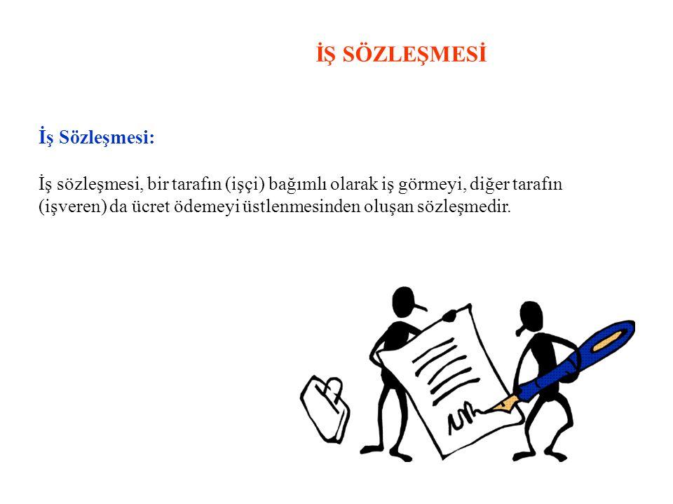 İŞ SÖZLEŞMESİ İş Sözleşmesi: