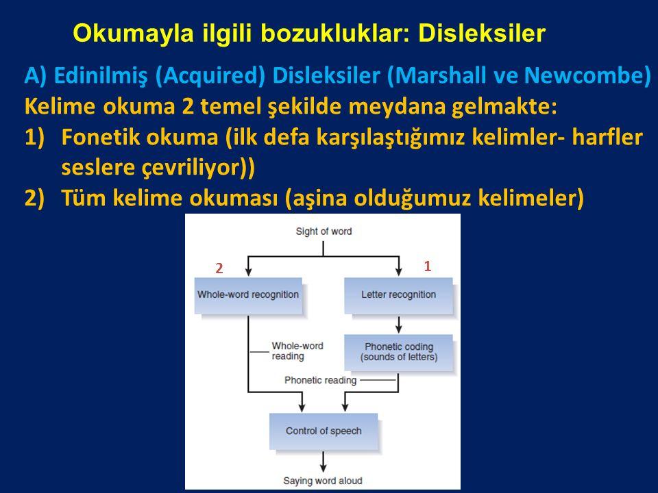 Okumayla ilgili bozukluklar: Disleksiler