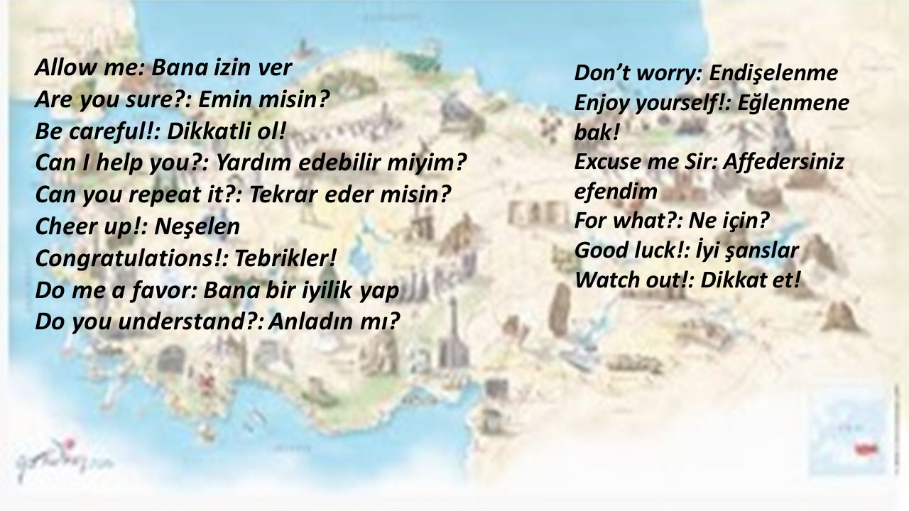 Are you sure : Emin misin Be careful!: Dikkatli ol!