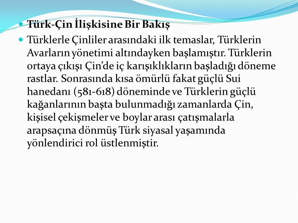 Türk-Çin İlişkisine Bir Bakış