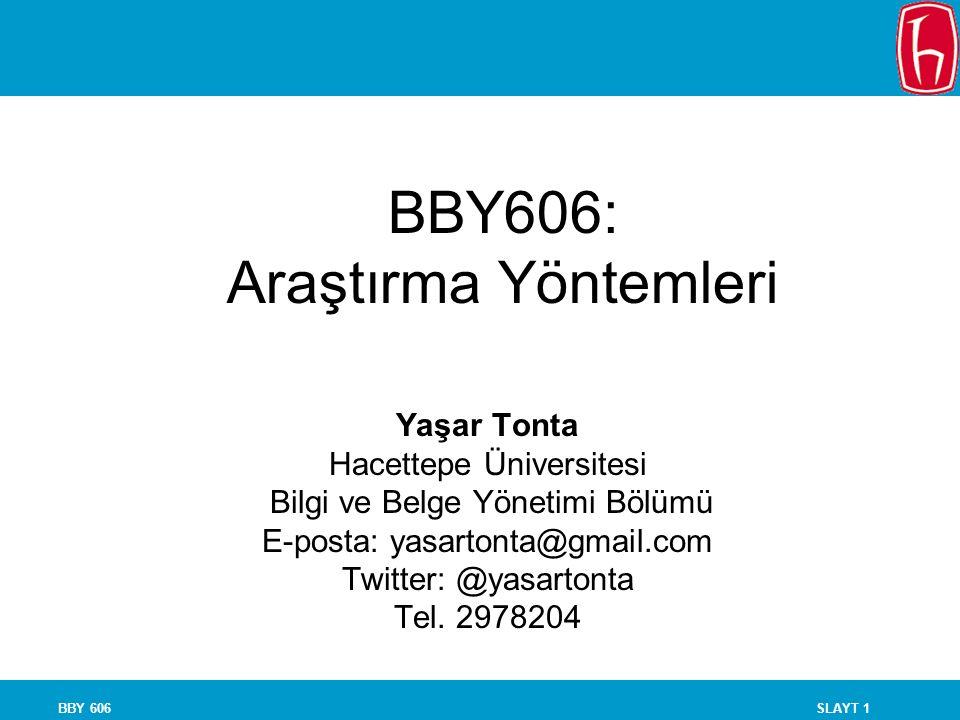BBY606: Araştırma Yöntemleri