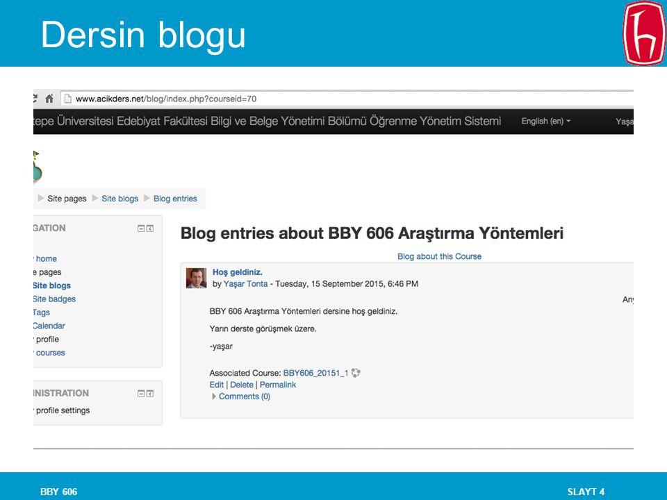 Dersin blogu BBY 606