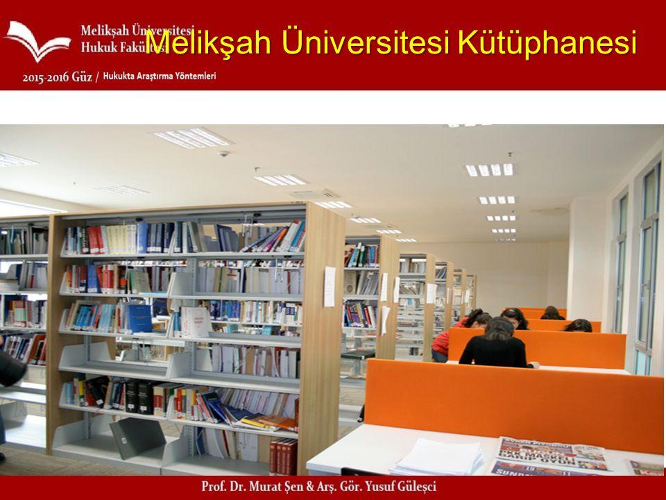 Melikşah Üniversitesi Kütüphanesi