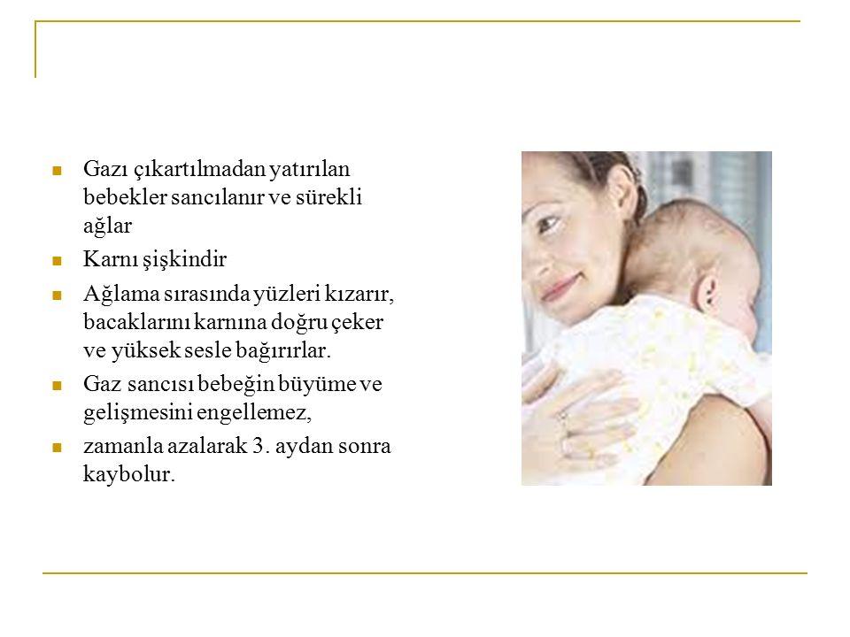 Gazı çıkartılmadan yatırılan bebekler sancılanır ve sürekli ağlar