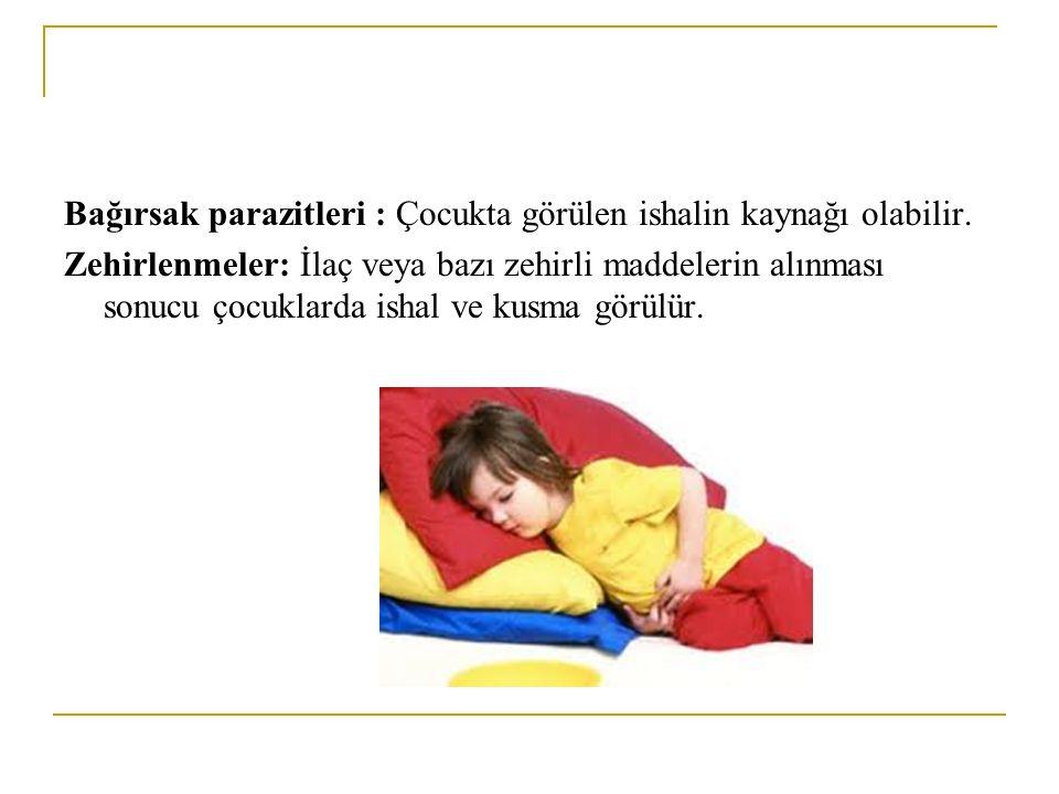 Bağırsak parazitleri : Çocukta görülen ishalin kaynağı olabilir.