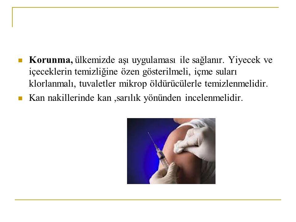 Korunma, ülkemizde aşı uygulaması ile sağlanır