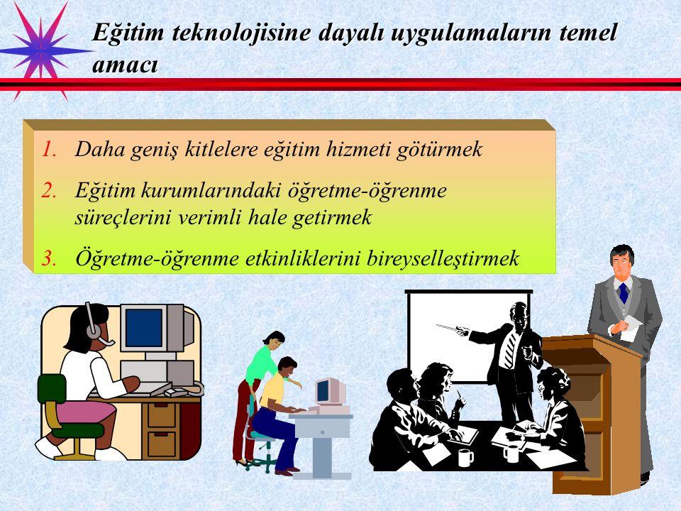 Eğitim teknolojisine dayalı uygulamaların temel amacı