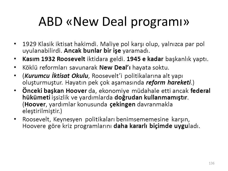 ABD «New Deal programı»