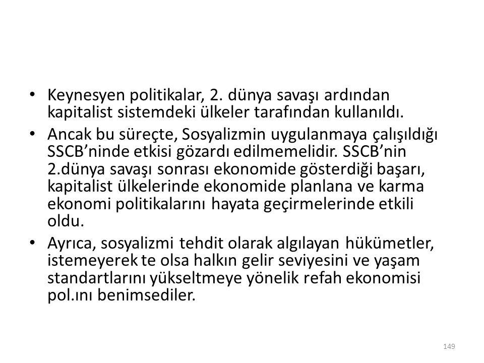 Keynesyen politikalar, 2