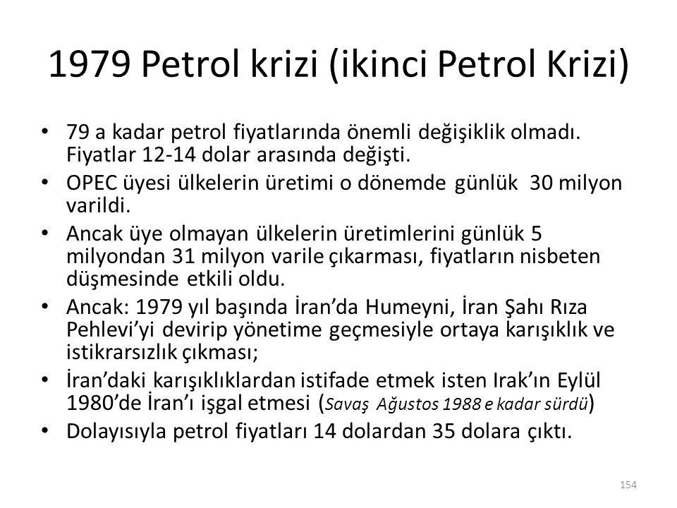 1979 Petrol krizi (ikinci Petrol Krizi)