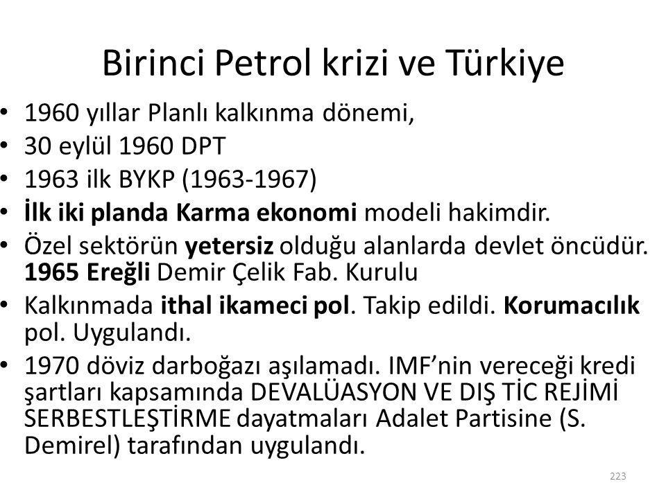 Birinci Petrol krizi ve Türkiye