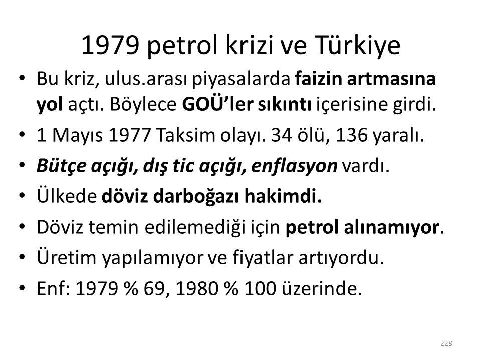 1979 petrol krizi ve Türkiye