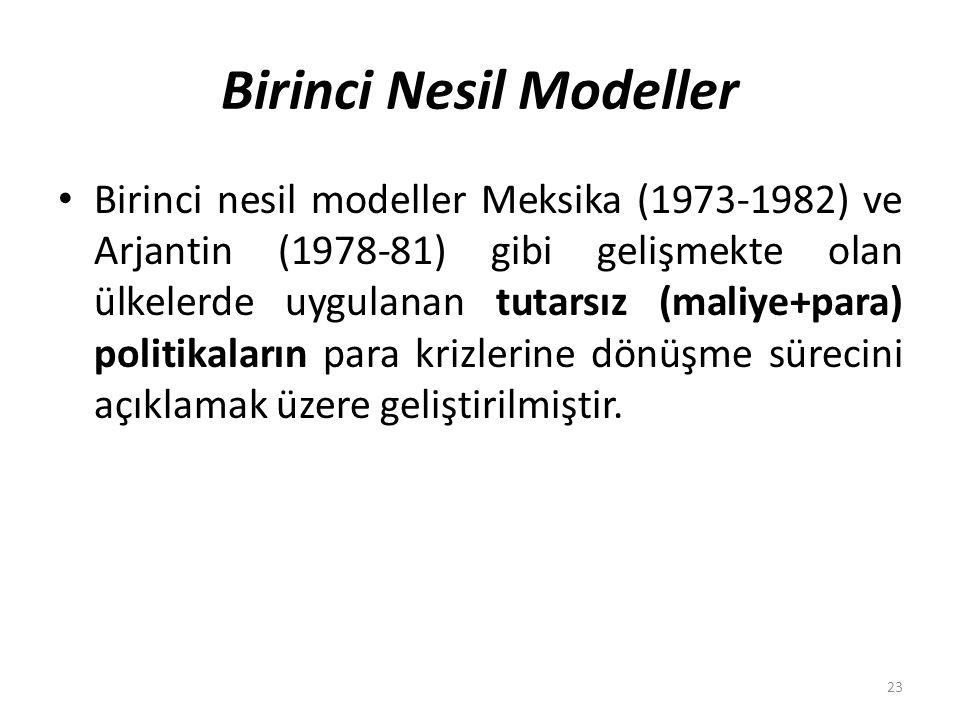 Birinci Nesil Modeller