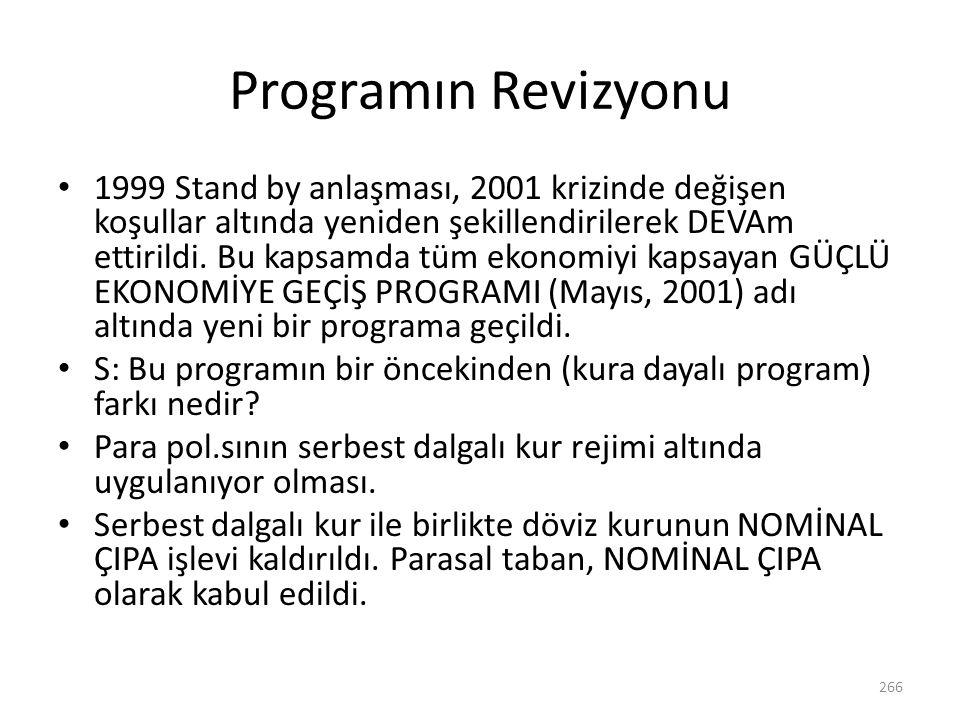 Programın Revizyonu