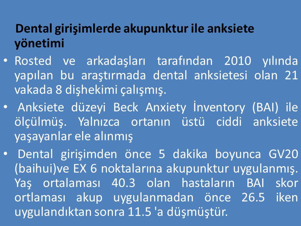 Dental girişimlerde akupunktur ile anksiete yönetimi