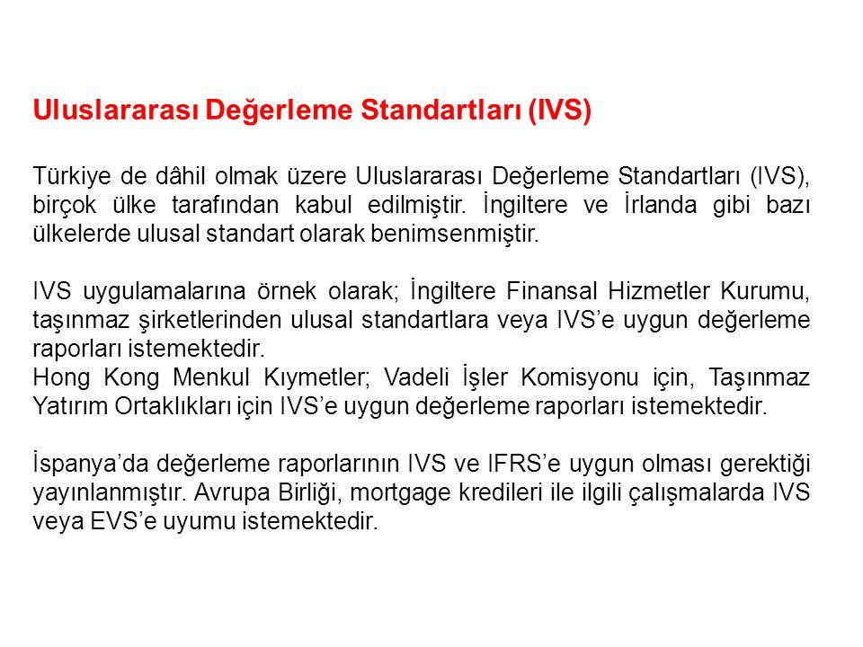 Uluslararası Değerleme Standartları (IVS)