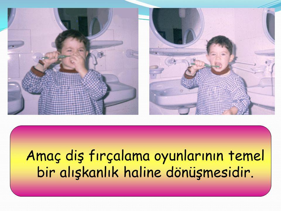 Amaç diş fırçalama oyunlarının temel bir alışkanlık haline dönüşmesidir.