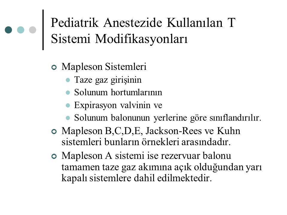 Pediatrik Anestezide Kullanılan T Sistemi Modifikasyonları
