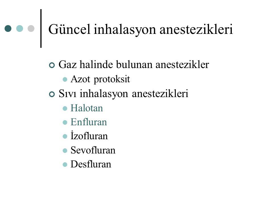 Güncel inhalasyon anestezikleri