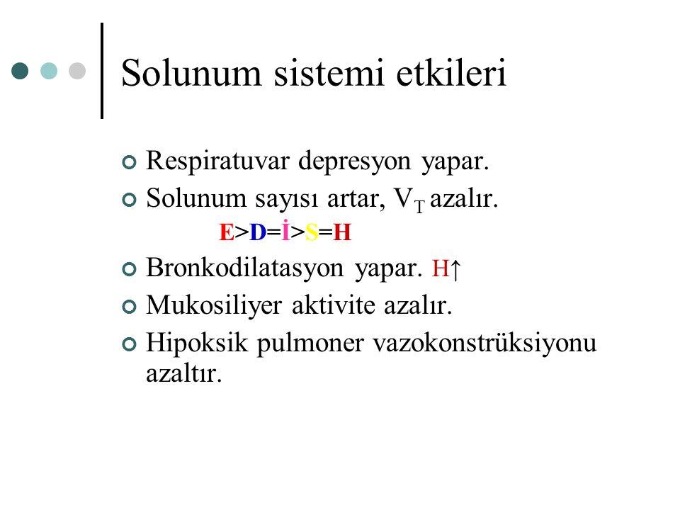Solunum sistemi etkileri