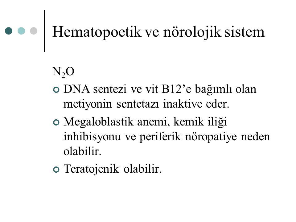 Hematopoetik ve nörolojik sistem