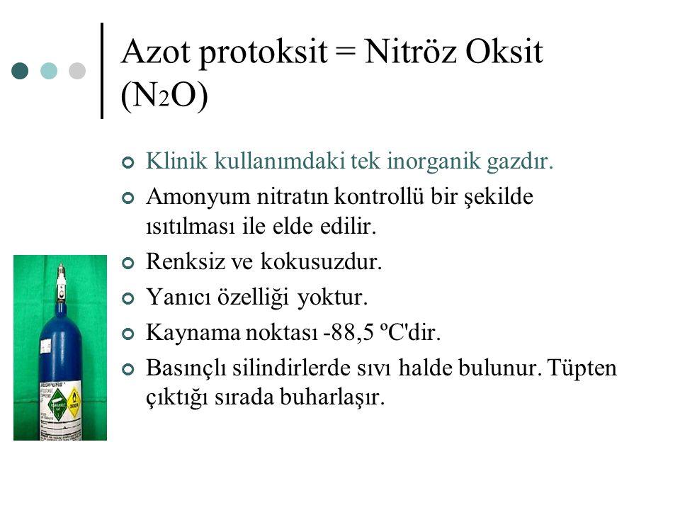 Azot protoksit = Nitröz Oksit (N2O)