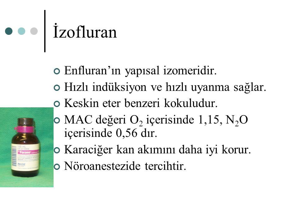 İzofluran Enfluran'ın yapısal izomeridir.