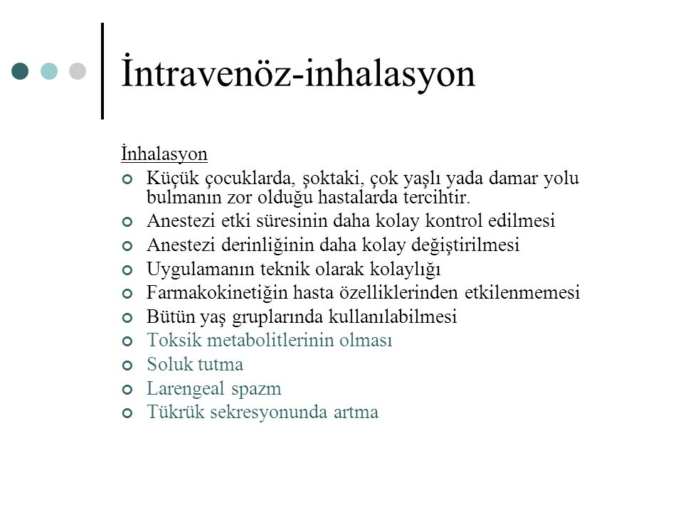 İntravenöz-inhalasyon