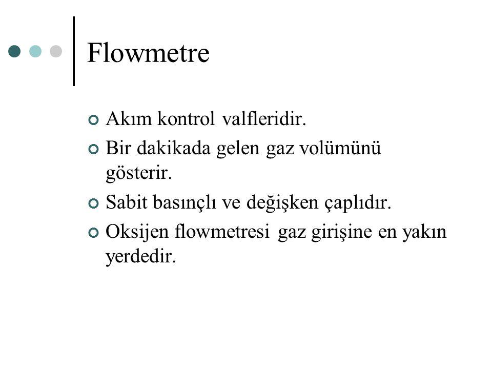 Flowmetre Akım kontrol valfleridir.