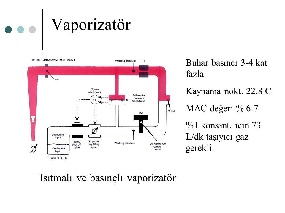Vaporizatör Isıtmalı ve basınçlı vaporizatör