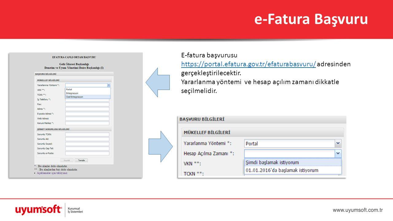e-Fatura Başvuru E-fatura başvurusu