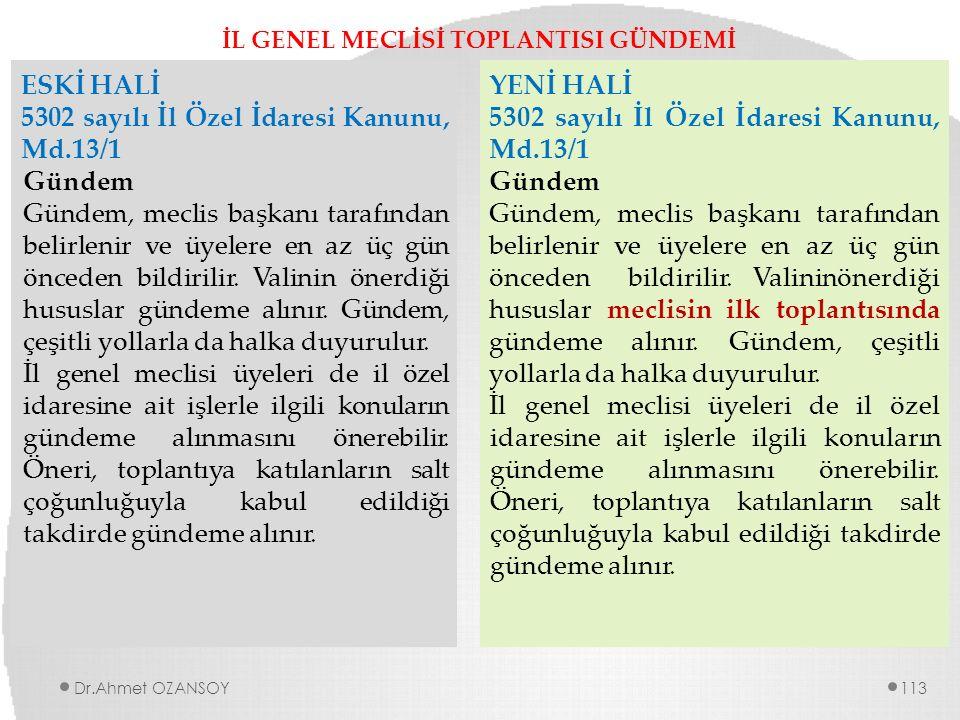 İL GENEL MECLİSİ TOPLANTISI GÜNDEMİ