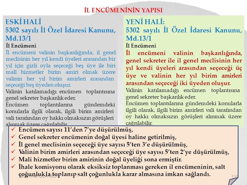 5302 sayılı İl Özel İdaresi Kanunu, Md.13/1 YENİ HALİ: