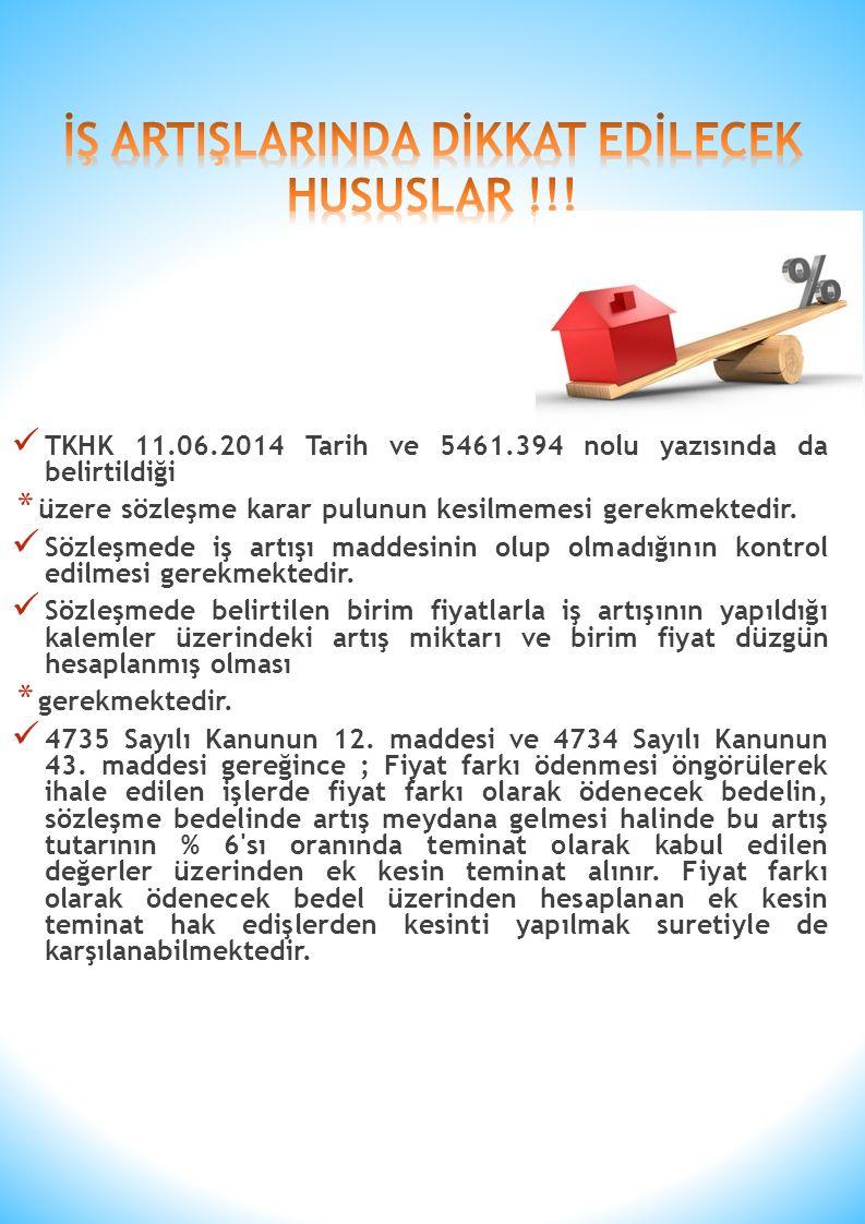 İŞ ARTIŞLARINDA DİKKAT EDİLECEK HUSUSLAR !!!