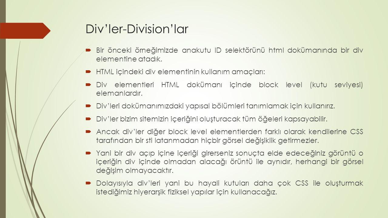 Div'ler-Division'lar