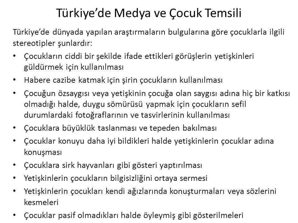 Türkiye'de Medya ve Çocuk Temsili