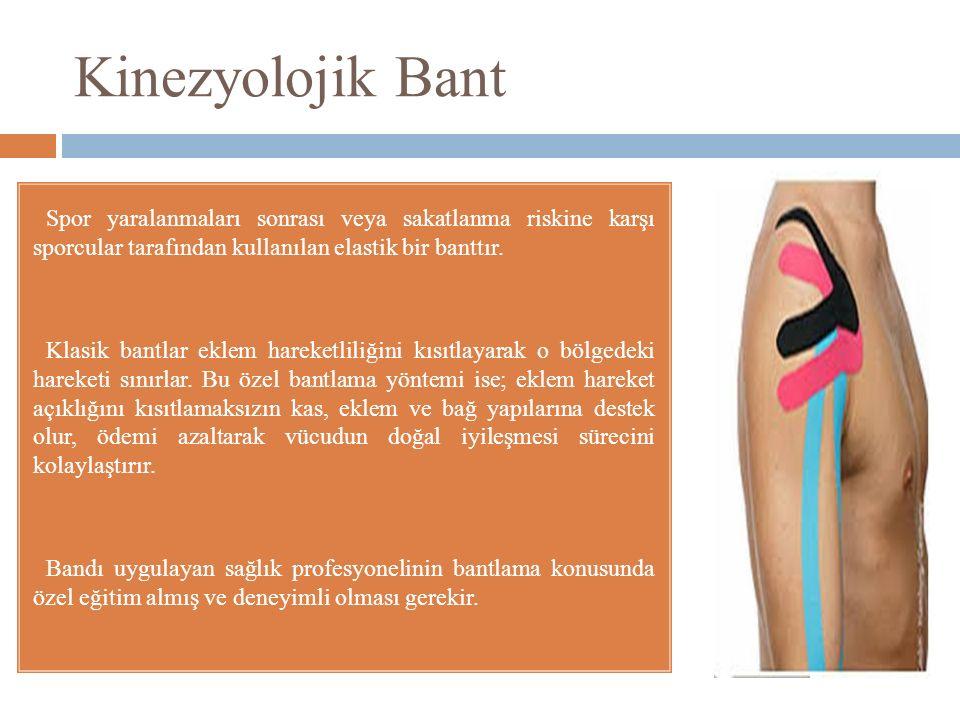 Kinezyolojik Bant Spor yaralanmaları sonrası veya sakatlanma riskine karşı sporcular tarafından kullanılan elastik bir banttır.