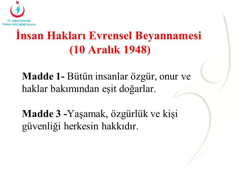 İnsan Hakları Evrensel Beyannamesi (10 Aralık 1948)