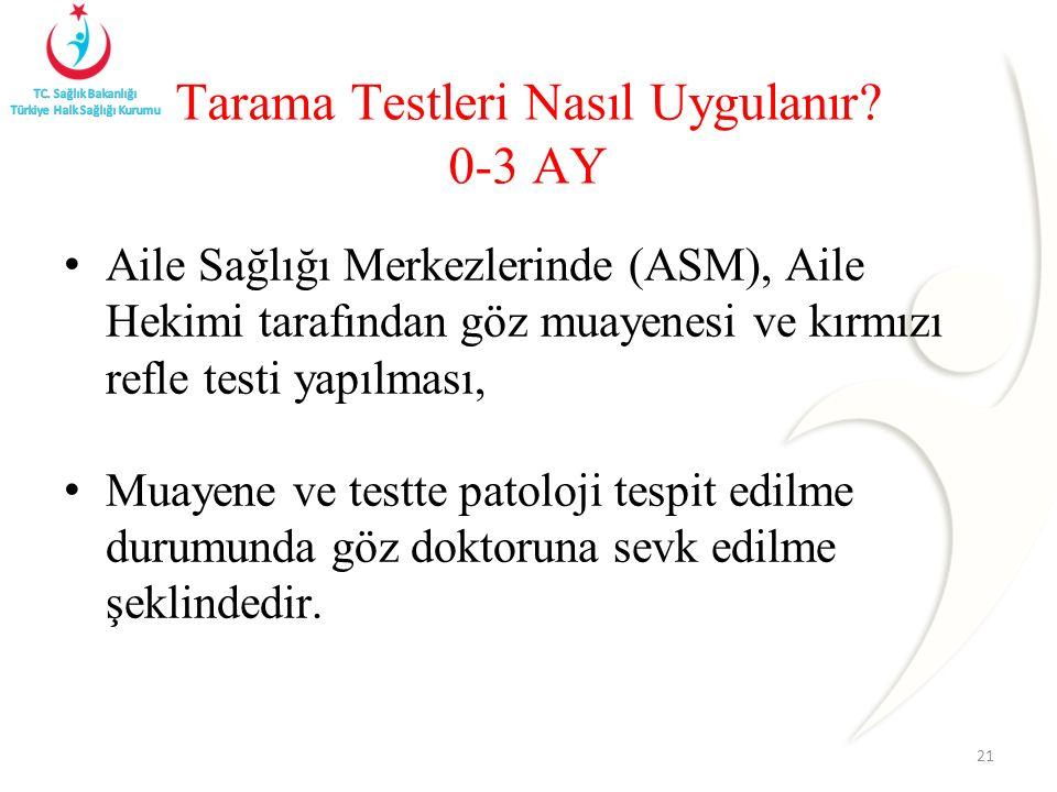 Tarama Testleri Nasıl Uygulanır 0-3 AY
