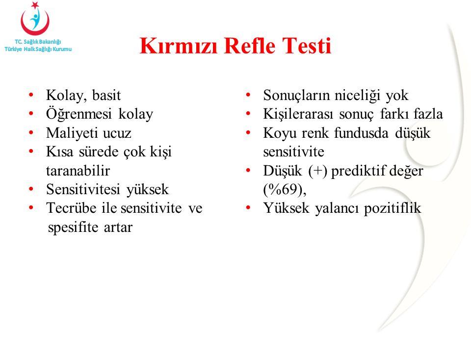 Kırmızı Refle Testi Kolay, basit Öğrenmesi kolay Maliyeti ucuz