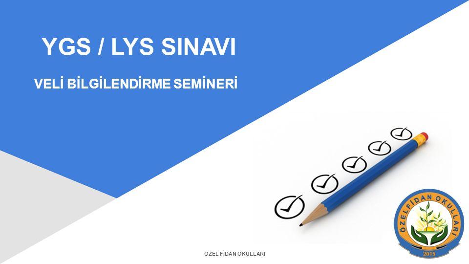 YGS / LYS SINAVI VELİ BİLGİLENDİRME SEMİNERİ ÖZEL FİDAN OKULLARI